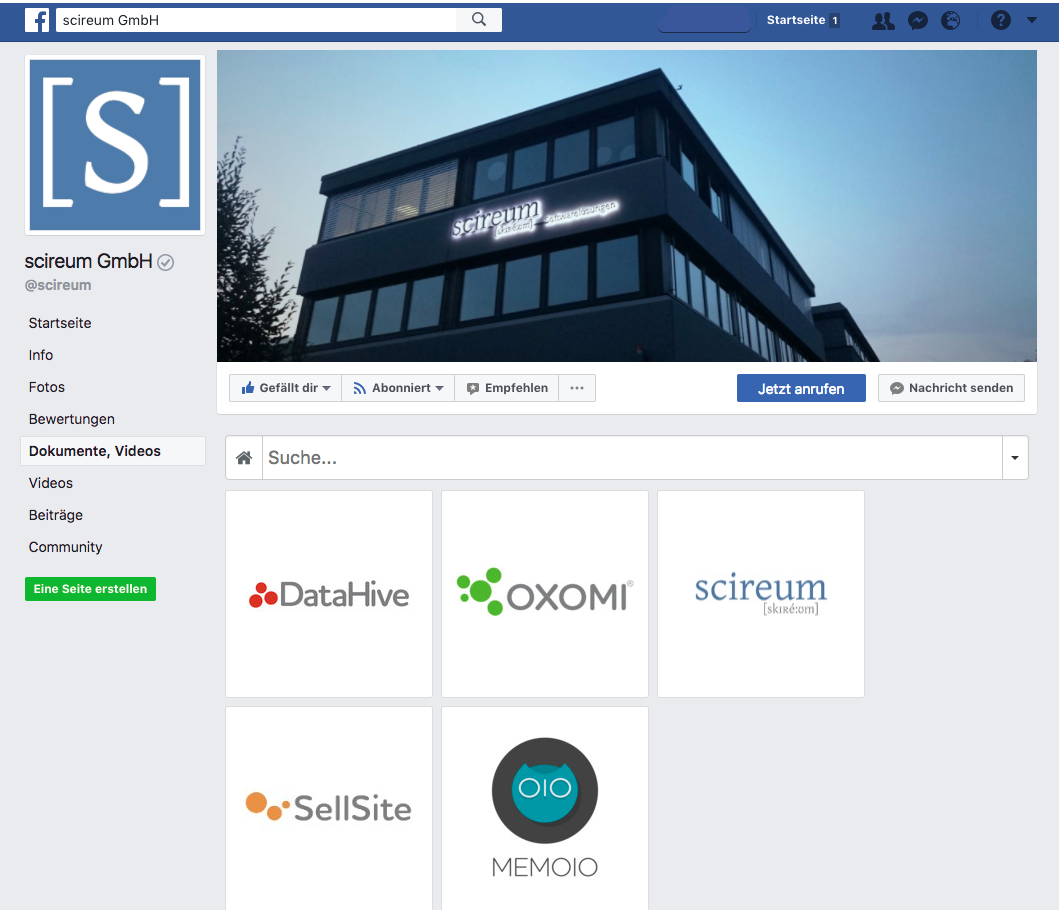 Facebook-Integration von scireum