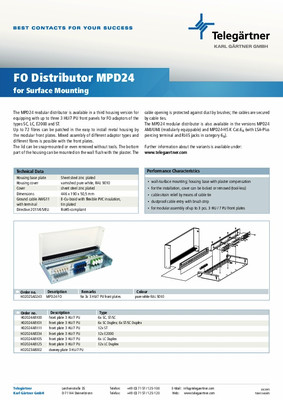 Distributeur MPD24 FO