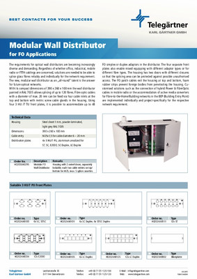 Modular Wall Distributor