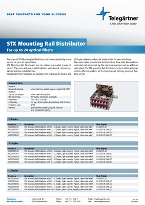 Mounting Rail Distributor TS24