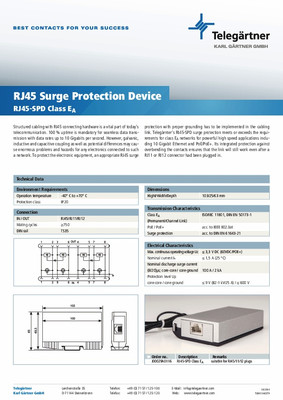 RJ45 Surge Protection Device