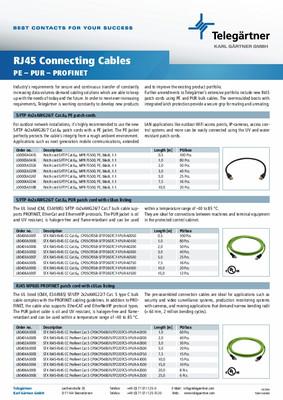 Câbles de connexion RJ45