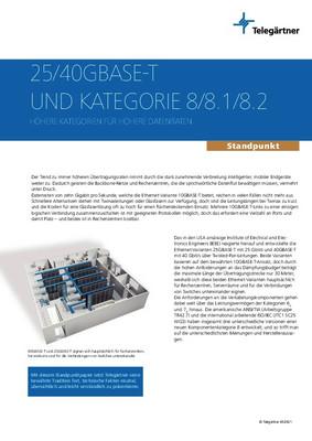 Fakten zu 25/40GBASE-T und Kategorie 8