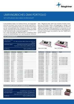 LWL Patchkabel und Rangierverteiler in erikaviolett