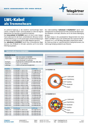 LWL-Kabel als Trommelware