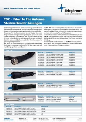 TOC FTTA Steckverbinder-Lösungen