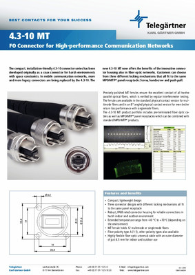 FO Connectors 4.3-10MT