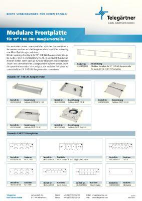 Modulare Frontplatte