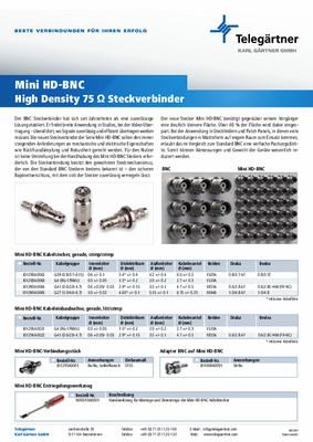 Mini HD-BNC 75 Ohm Steckverbinder