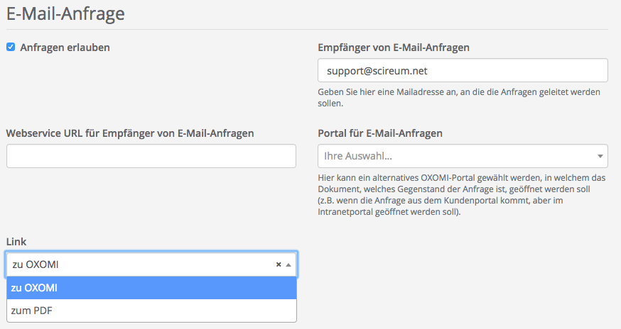 E Mail Anfrage Hilfe Oxomi